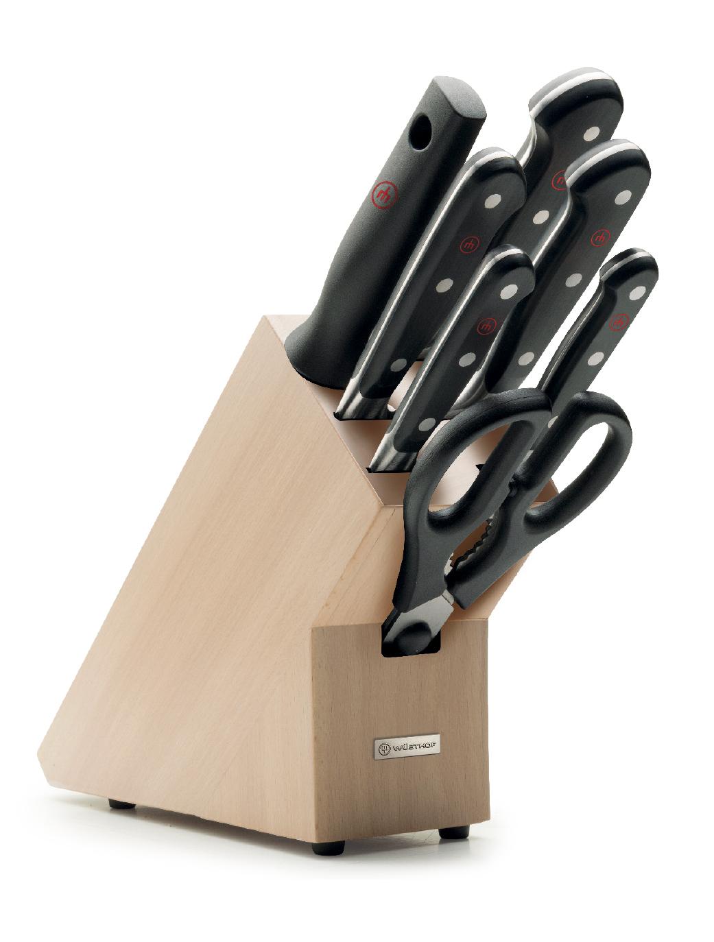 Messerblock mit 7 Artikeln / Knife block with 7 pieces