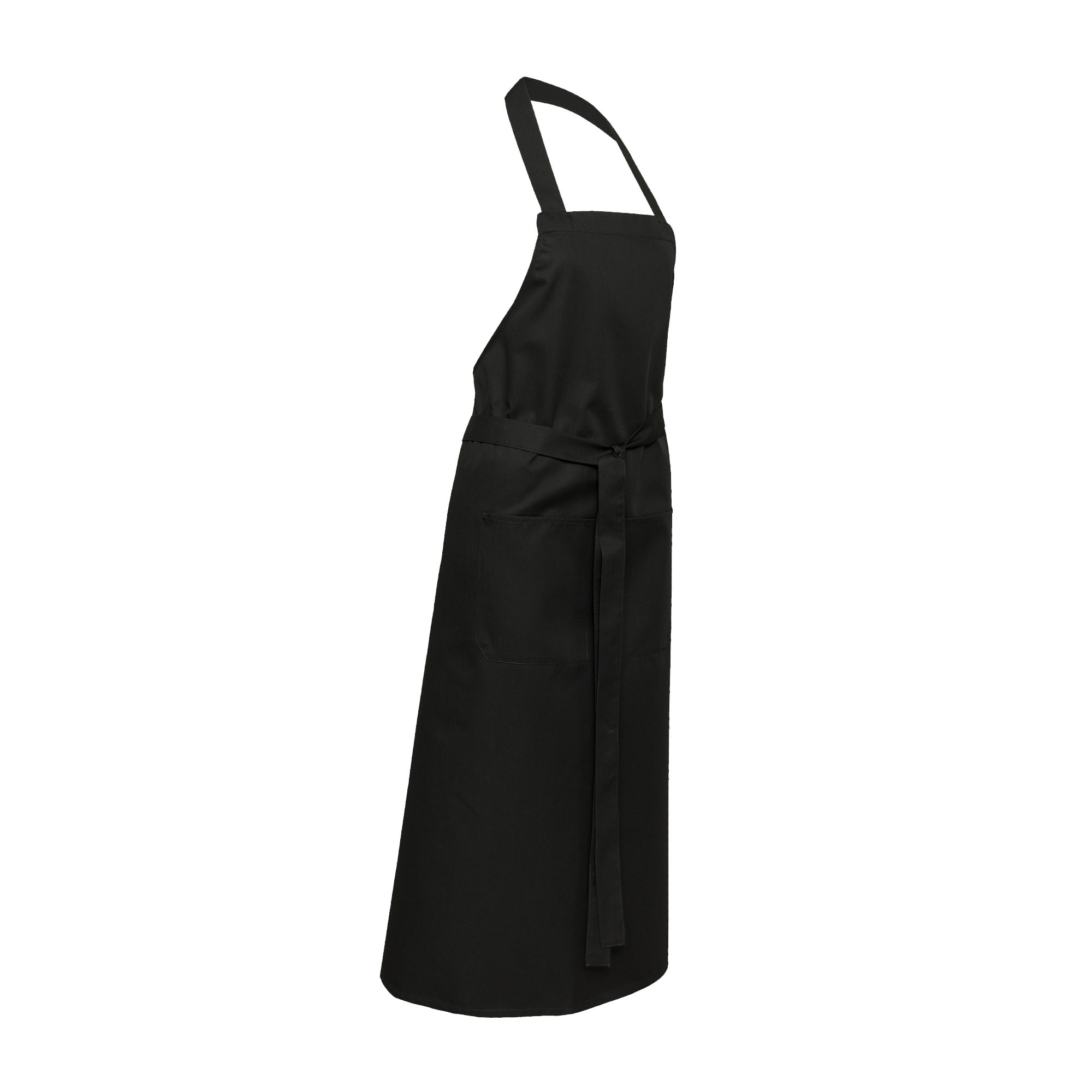 Latzschürze Black XL Modell, Tasche mittig