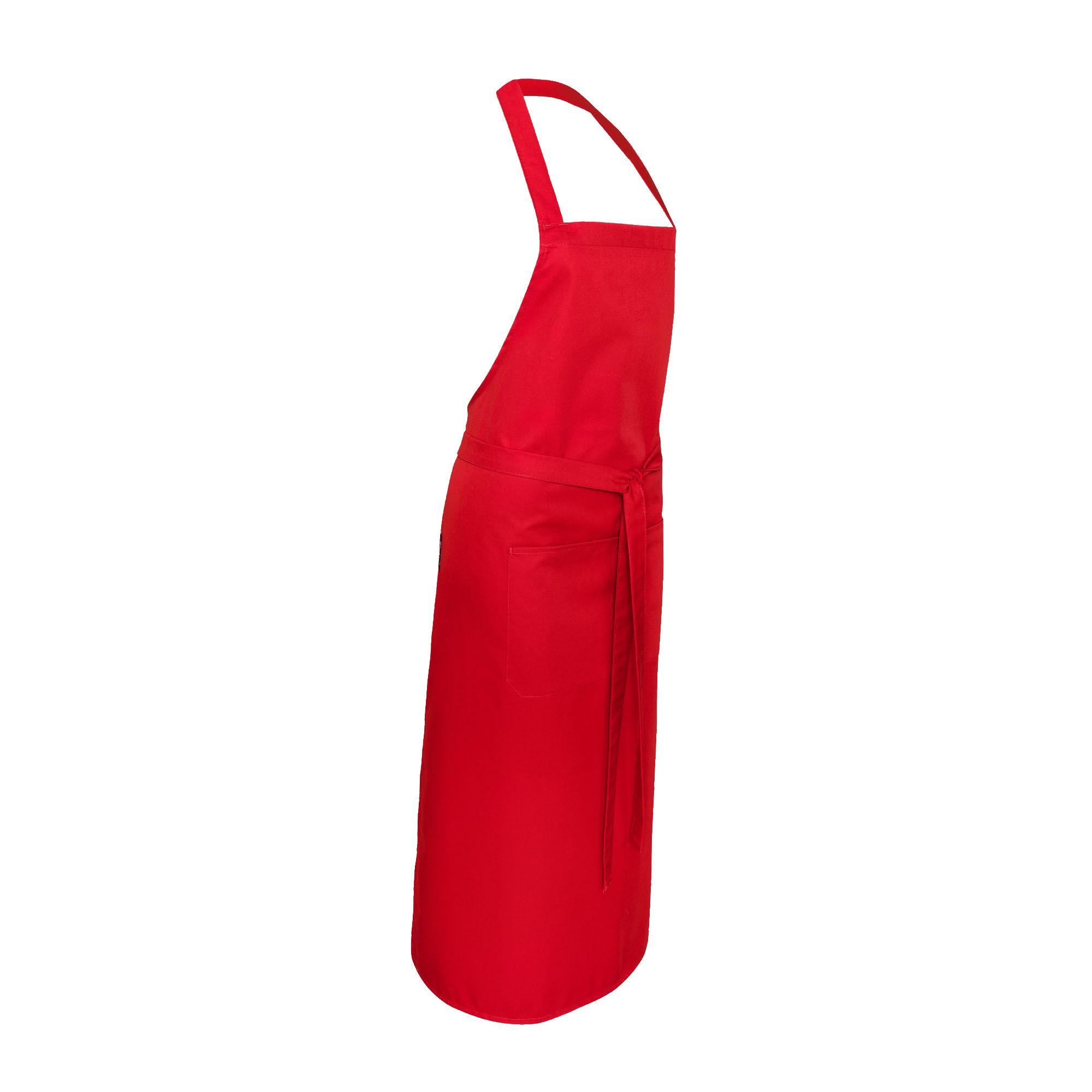 Latzschürze Red, Tasche mittig