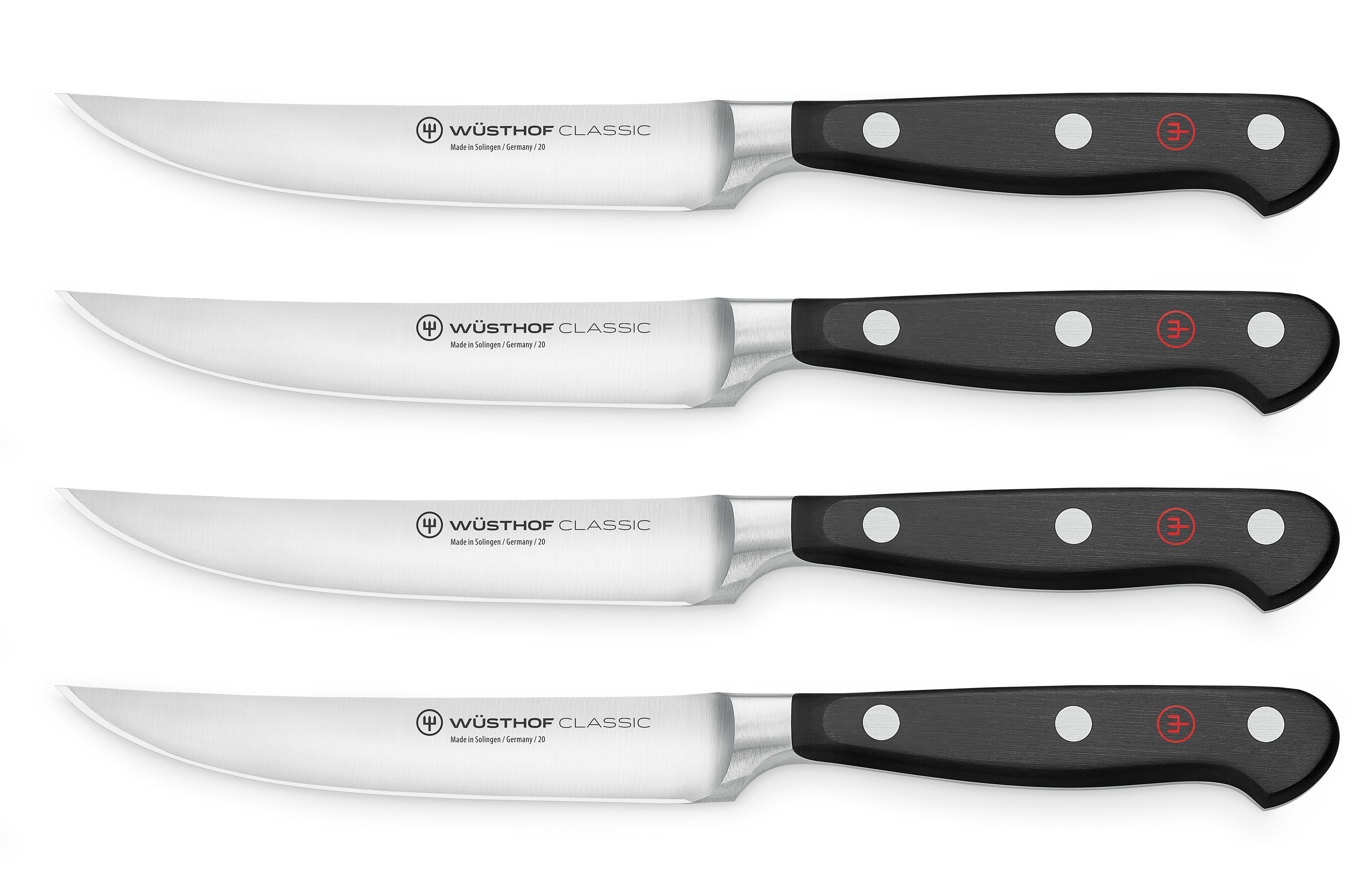 Steakmesser Set mit 4 Messern / Steak knife set with 4 knives